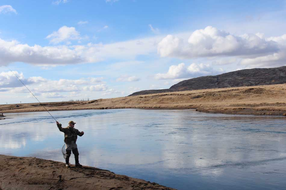Bruara river fishing in iceland for Who sells fishing license near me