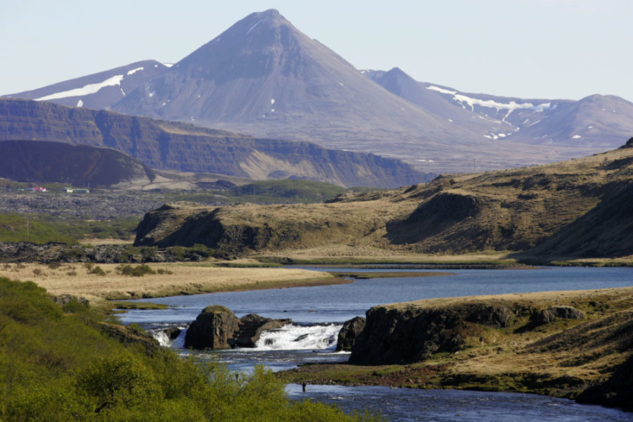 Salmon fishing in iceland